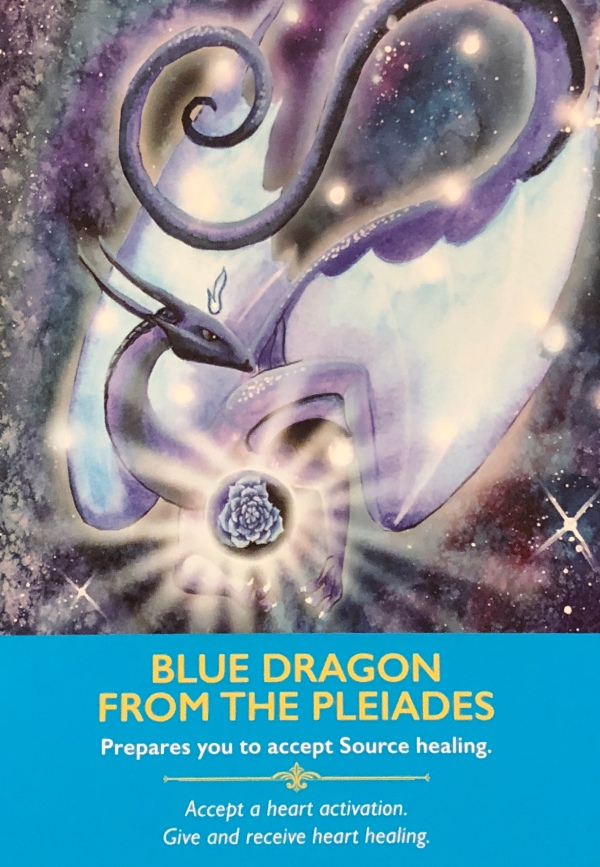 BLUE DRAGON FROM THE PLEIADES -Archangel Oracle - Divine Guidance