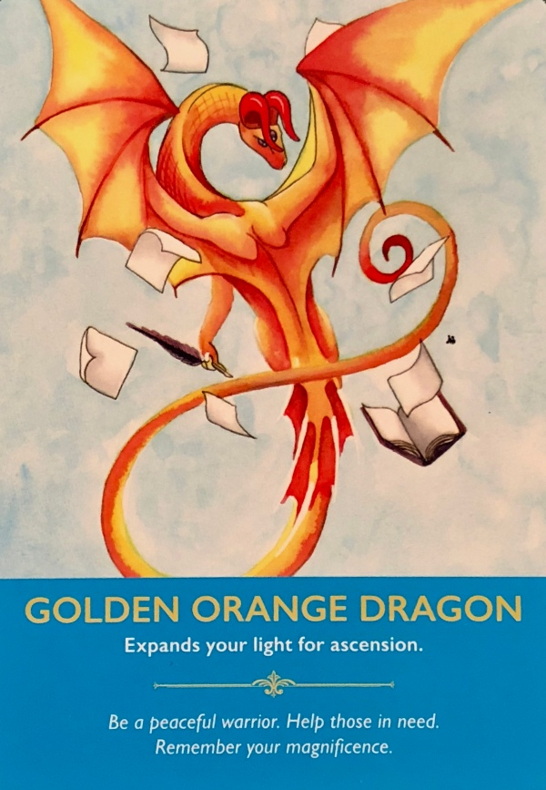 GOLDEN ORANGE DRAGON - Archangel Oracle - Divine Guidance