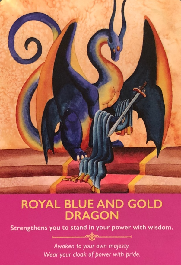 ROYAL BLUE AND GOLD DRAGON - Archangel Oracle - Divine Guidance