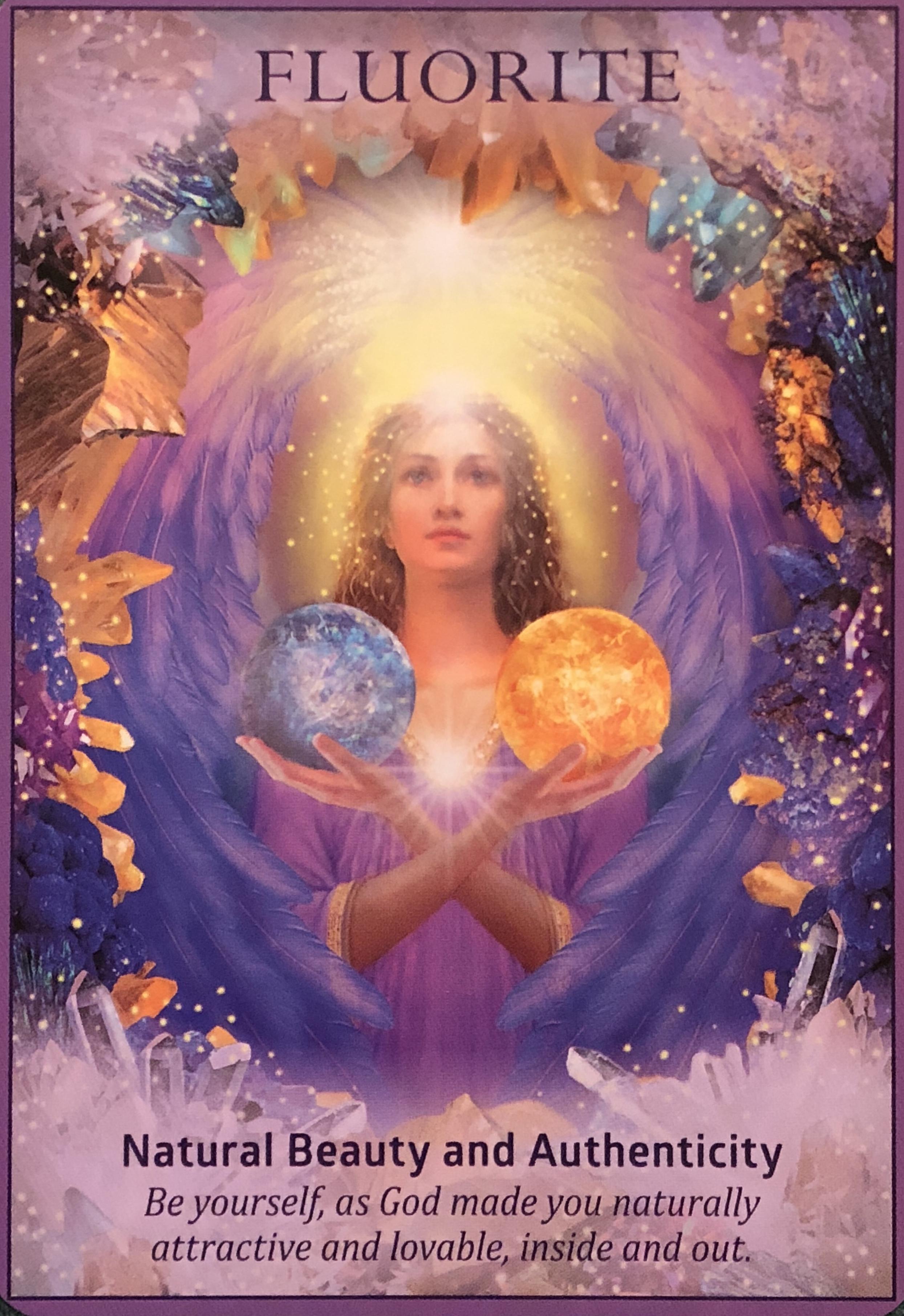 Fluorite Archangel Oracle Divine Guidance